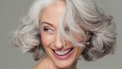 Formula de creme para cabelos grisalhos