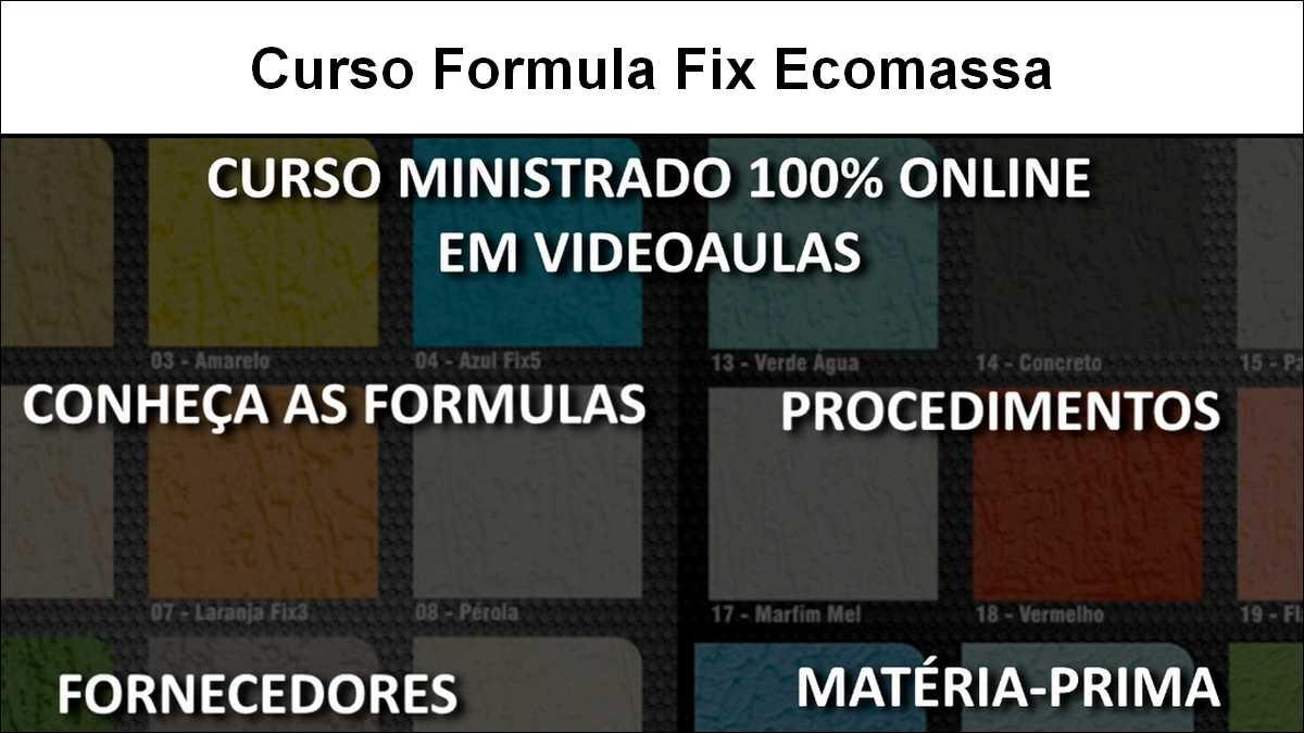 Curso Formula Fix Ecomassa