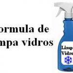 Formula de limpador de vidros sem enxague