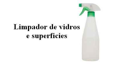 Formula limpa vidros e superfícies duras