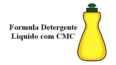 Formula de detergente liquido com CMC