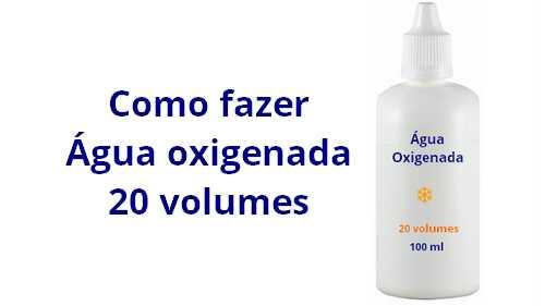 Formula Água Oxigenada 20 volumes