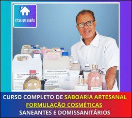 Curso de sabões artesanais, cosméticos e produtos de limpeza